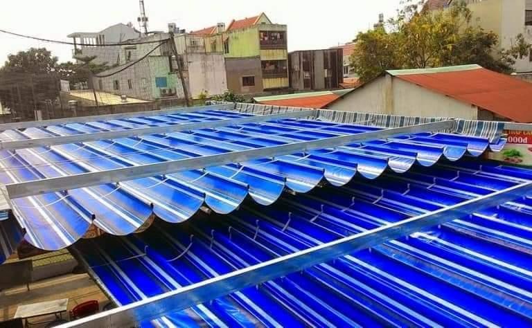 Báo Giá Lắp Đặt Mái Xếp Di Động Cho Sân Thượng, Làm Mái Bạt Xếp Lượn Sóng Giá Rẻ Tầng Thượng